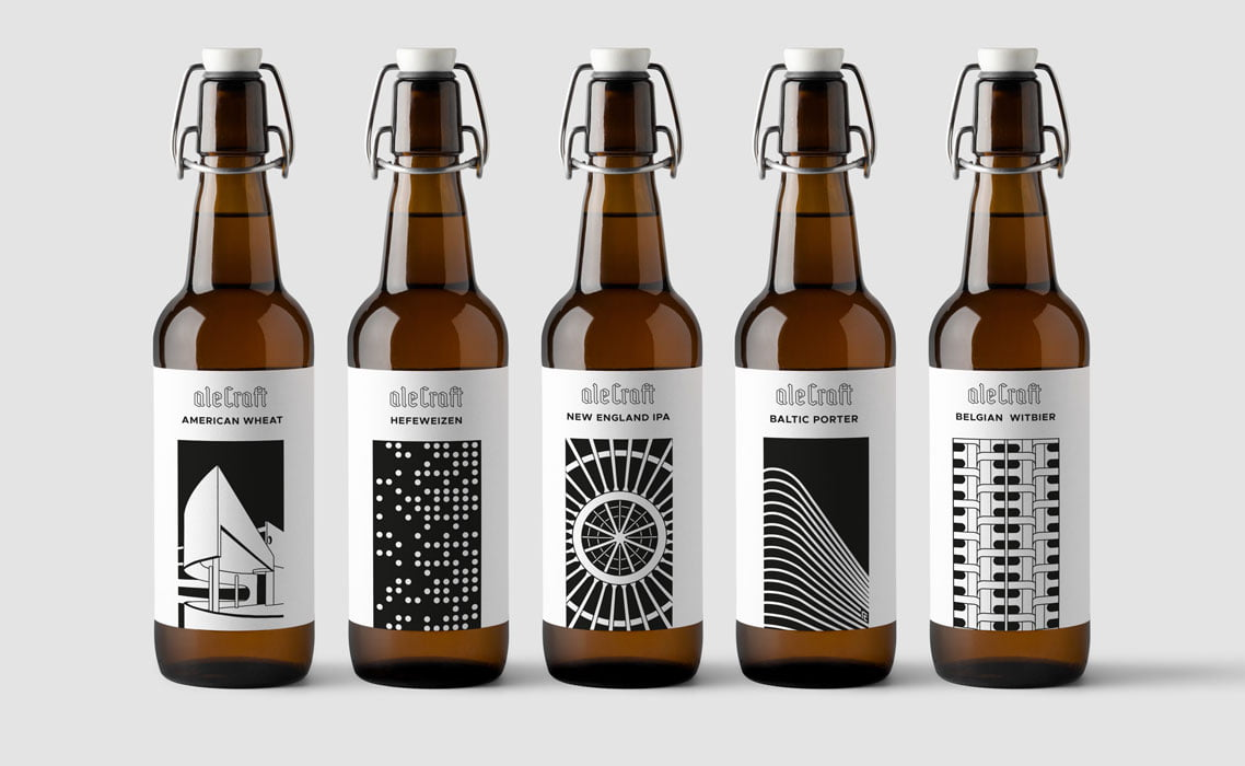 Ilustracje wrocławskich obiektów na etykietach piwnych